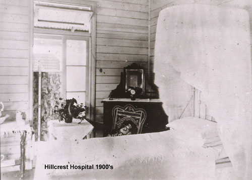 Patient's room in the Hillcrest Hospital 1900s