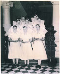 Nursing graduates and senior nurses, Mater Hospital, Rockhampton 1956