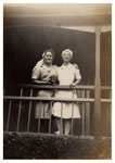 Nurses Jill Crossan and Olga Freestone at Tannachy Hospital ca. 1940