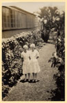 Nurses Olga Freestone and Dorothy Bradley at Tannachy Hospital ca. 1940
