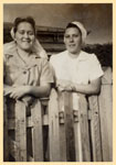 Nurses Jill Crossan and Mercie Whellan at Tannachy Hospital ca. 1940