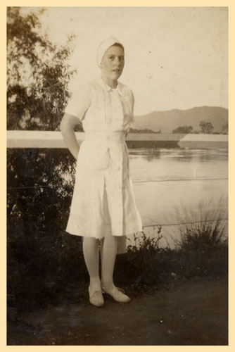 Nurse Mercie Whellan, Tannachy Hospital, Rockhampton ca. 1940