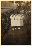 Sisters Lillian Abbott, Rebie Reid, Doris Hill and Sylvia Andersen at Tannachy Hospital, Rockhampton