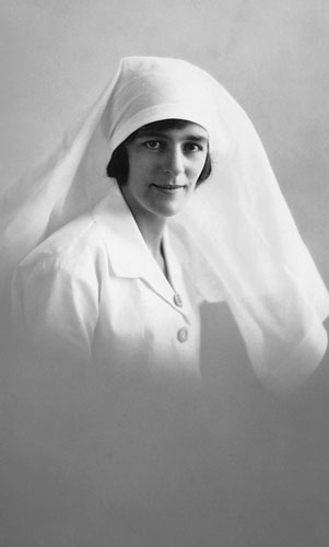 Sister Ivy Baker at the Rockhampton Hospital ca. 1930
