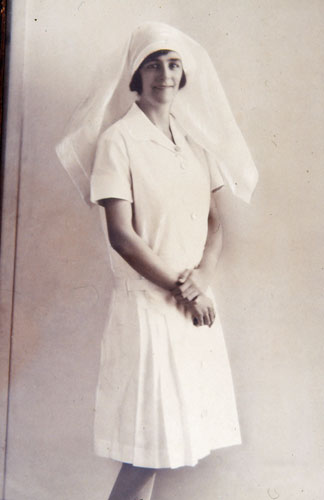 Sister Ivy Baker at Rockhampton Hospital ca. 1930