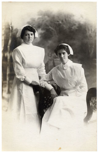 Nurses in uniform Rockhampton Hospital ca. 1918