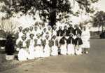 Matron Sarah Maud Green with nurses at Rockhampton Hospital ca. 1940