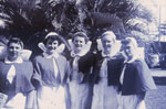Group of nurses in uniform Rockhampton Hospital 1957
