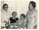Retired/retiring Rockhampton nursing sisters at a function June 1970
