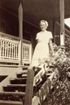Nurse Betty Francis (later Elizabeth West) at Rockhampton Hospital's old Isolation Ward 1948