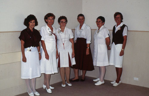 Charge Nurses at the Rockhampton Hospital in the 1980s