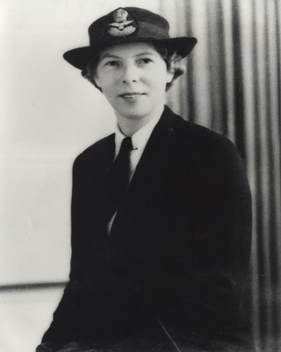 Sister Edna May Weber (later Edna May Besch) in RAAF Nursing Service uniform ca. 1945