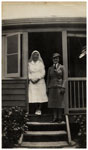 Matron Dorothy Search and Sister Alma Crudgington at Beaudesert Hospital in 1939