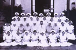 Nurse Ada Catherine Deane in a group of student nurses at Rockhampton Hospital in 1925.