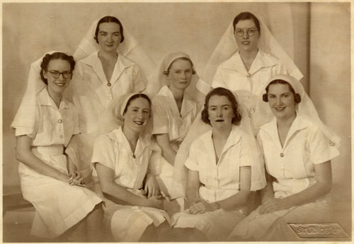 Graduating nurses, Rockhampton Hospital 1940