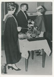 Matron E. M. O'Connor at Rockhampton Hospital graduation with Hon. Neville Hewitt MLA 1969.